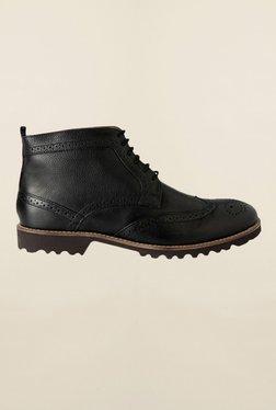Louis Philippe Black Brogue Shoes