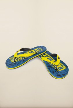 Dawn Of Justice Blue Thong Flip Flops