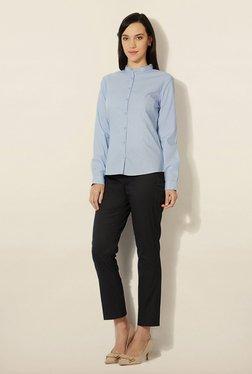 Van Heusen Blue Striped Cotton Shirt
