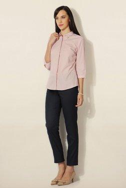 Van Heusen Pink Striped Cotton Shirt