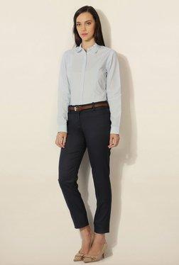 Van Heusen Navy Solid Trouser