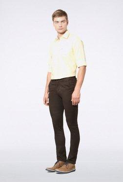 Van Heusen Dark Brown Casual Trousers