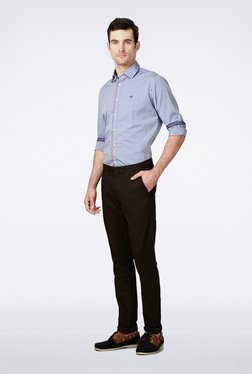 Van Heusen Dark Brown Casual Trousers - Mp000000000172044