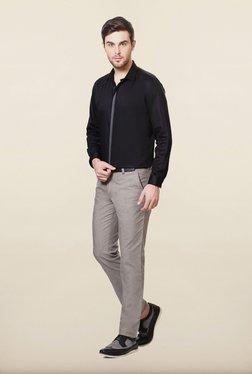 Van Heusen Black Solid Casual Shirt