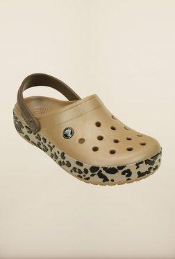 Crocs Crocband Leopard Gold & Black Leopard Clogs