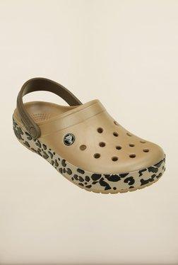 Crocs Crocband Leopard Bronze Clogs