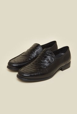 Da Vinchi by Metro Black Leather Shoes