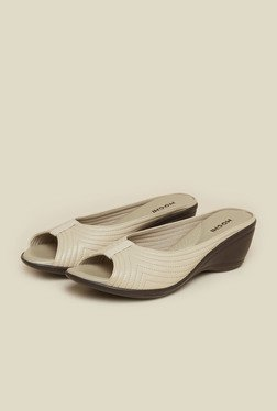 Mochi Beige Wedge Heel Sandals