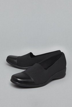 Head Over Heels Black Leather Shoes