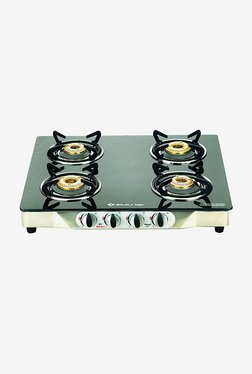 Bajaj CGX4 Glass Top 4 Burner Gas Cooktops (Black)