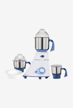 Preethi Blue Leaf Diamond 750W Mixer Grinder (White & Blue)