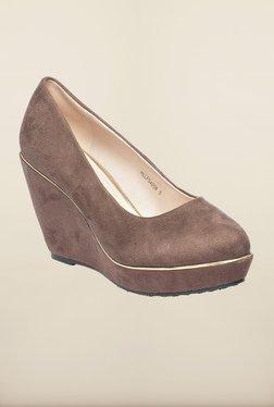 Pavers England Brown Wedge Heel Shoes