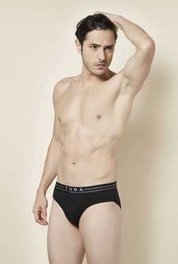 Tuna London Black Solid Brief