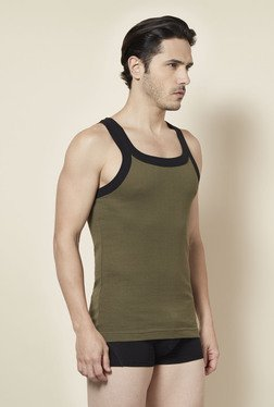 Tuna London Olive Solid Vest