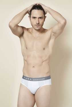 Tuna London White Solid Brief (Pack of 2)
