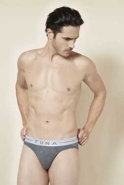 Tuna London Grey Melange Solid Brief