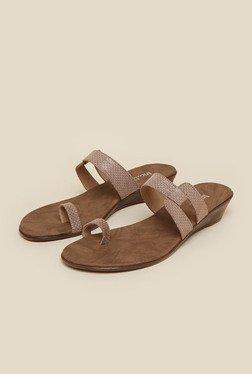 Inc.5 Beige Wedge Heel Sandals