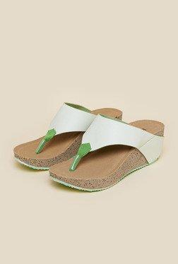 Inc.5 Light Green Wedge Heel Sandals