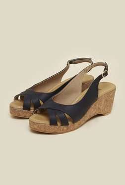 Inc.5 Black Peep Toe Wedges