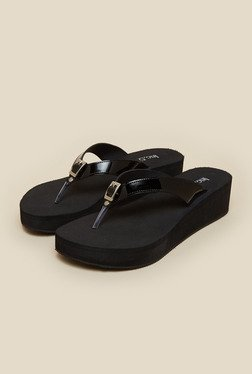 Inc.5 Black Thong Wedges