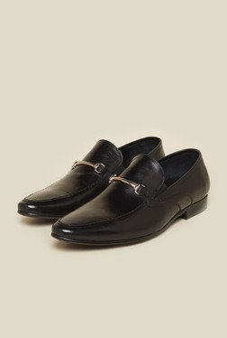 Atesber By Inc.5 Black Leather Formal Slip-On Shoes