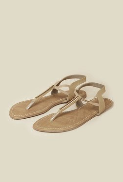 Inc.5 Beige Back Strap Flat Sandals