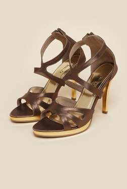 Inc.5 Brown Cone Heel Sandals