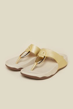 Inc.5 Gold Flat Thongs