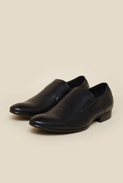 Privo By Inc.5 Black Leather Formal Shoes