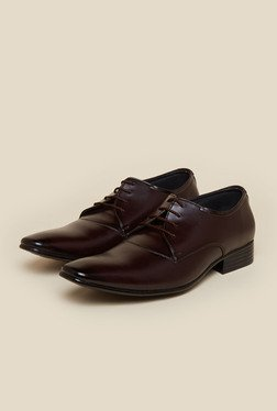 Privo By Inc.5 Brown Derby Lace-up Shoes