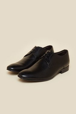 Privo By Inc.5 Black Derby Lace-up Shoes