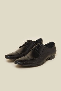 Atesber By Inc.5 Black Leather Formal Derby Shoes