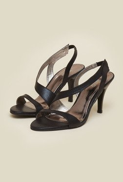 Inc.5 Black Leather Cone Heel Sandals