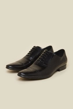 Atesber By Inc.5 Black Leather Formal Oxford Shoes