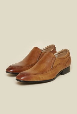 Atesber By Inc.5 Tan Leather Formal Slip-Ons
