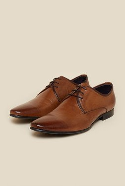 Atesber by Inc.5 Tan Leather Derby Shoes