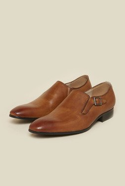 Atesber by Inc.5 Tan Leather Formal Moccasins