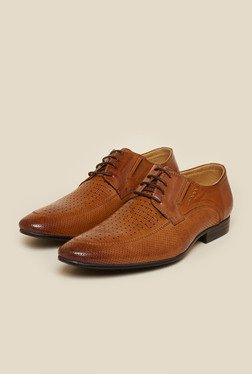 Atesber By Inc.5 Tan Derby Lace-up Shoes