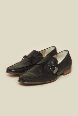 Atesber by Inc.5 Black Leather Loafers