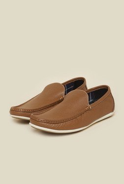 Privo by Inc.5 Tan Leather Moccasins