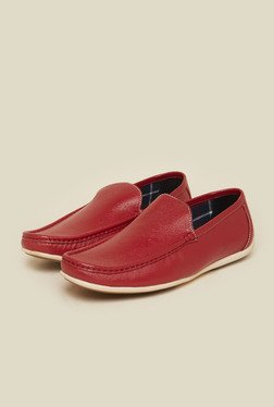 Privo by Inc.5 Red Leather Moccasins