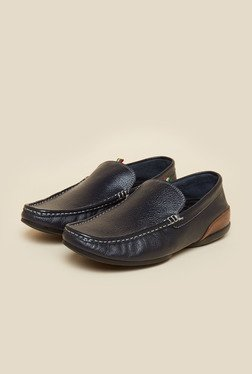 Privo by Inc.5 Navy Leather Casual Loafers