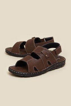 Zudio Brown Back Strap Sandals