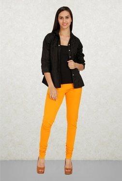 Aurelia Orange Solid Leggings