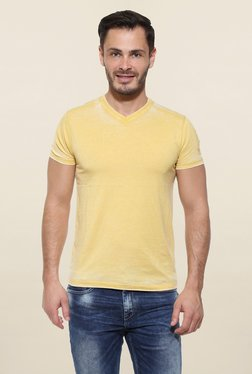 Pepe Jeans Yellow Solid T Shirt