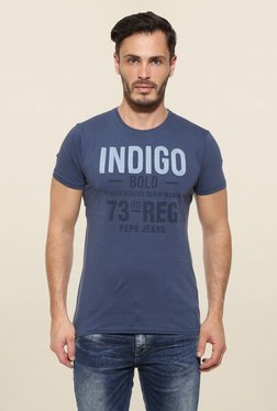 Pepe Jeans Navy Printed T Shirt