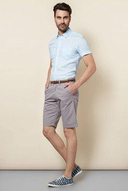 Celio* Grey Solid Shorts