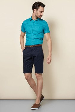 Celio* Navy Solid Shorts