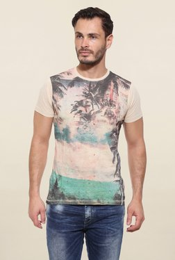Pepe Jeans Beige Graphic Print T Shirt