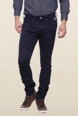 Pepe Jeans Navy Raw Denim Solid Jeans